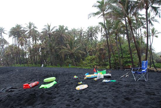 Terrain de jeu volcanique