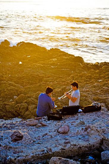 La musique adoucit la mer
